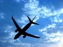 Flugzeug-Schattenbild Lizenzfreies Stockbild