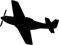 Flugzeug-Schattenbild Stockfoto