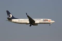 Flugzeug SDA Shandong Airlines Boeing 737-800 Stockbilder