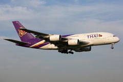 Flugzeug Thai Airways s Airbus A380 Stockbilder