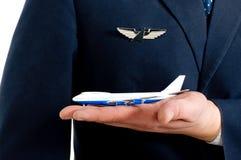 Flugzeug u. Pilot Lizenzfreies Stockbild
