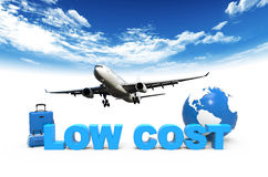 Flugzeug und niedrige Küste lizenzfreie stockfotos