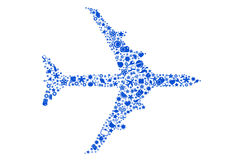 Flugzeug von den Reisen-Ikonen Stockfotos