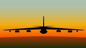 Flugzeug von der Frontseite Lizenzfreie Stockfotografie