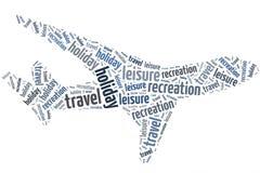 Flugzeug von Wörtern lizenzfreies stockbild