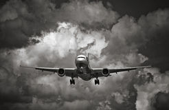 Flugzeug-Wolken stockfoto