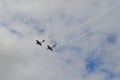 Flugzeug-Zeigung in Manchester Lizenzfreie Stockfotografie