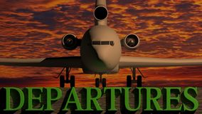 Flugzeugabfahrt Stockfotografie