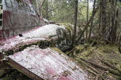 Flugzeugabsturz bleibt Lizenzfreies Stockfoto