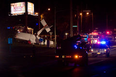 Flugzeugabsturz in Tallahassee, Florida Lizenzfreies Stockbild