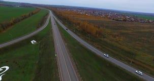 Flugzeugansicht der Straße Kasan stock video footage