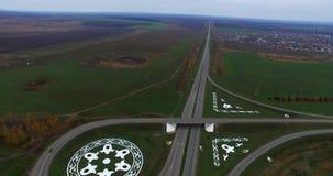 Flugzeugansicht der Straße Kasan stock footage