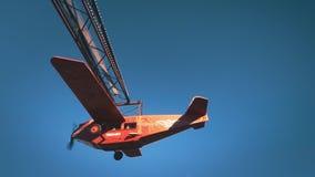 Flugzeuganziehungskraft im Vergnügungspark stock footage