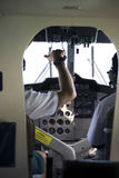 Flugzeugcockpitpanel lizenzfreie stockbilder
