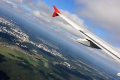 Flugzeuge über Moskau Stockbilder