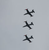 Flugzeuge Aermacchi mb339 Lizenzfreie Stockfotos