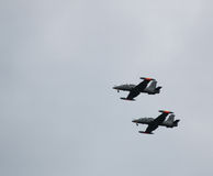 Flugzeuge Aermacchi mb339 Stockbild