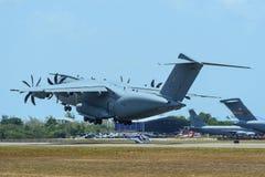 Flugzeuge Airbusses A400M der malaysischen Luftwaffe stockfotografie