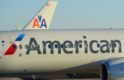 Flugzeuge American Airliness AA am internationaler Flughafen Miamis MIA Stockfoto