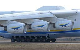 Flugzeuge Antonows An-225 Mriya an Gostomel-Flughafen, Kiew, Ukraine Lizenzfreie Stockfotos
