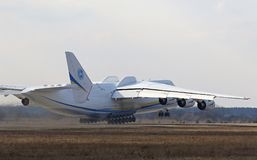 Flugzeuge Antonows An-225 Mriya an Gostomel-Flughafen, Kiew, Ukraine Stockfoto