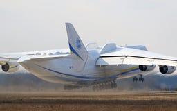 Flugzeuge Antonows An-225 Mriya an Gostomel-Flughafen, Kiew, Ukraine Stockbilder
