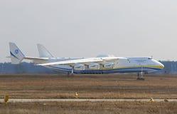 Flugzeuge Antonows An-225 Mriya an Gostomel-Flughafen, Kiew, Ukraine Lizenzfreies Stockbild