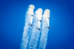 Flugzeuge auf airshow Lizenzfreies Stockbild
