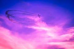Flugzeuge auf airshow Lizenzfreie Stockfotos