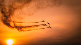 Flugzeuge auf airshow Stockfotos