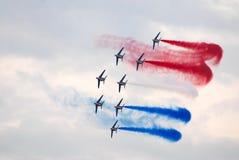 Flugzeuge auf dem Erscheinen Stockbild