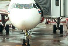 Flugzeuge bereit Stockbild