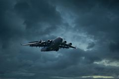 Flugzeuge C 17 Globemaster Lizenzfreie Stockfotos