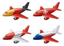 Flugzeuge in den europäischen Markierungsfahnenfarben Stockbild