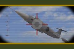 Flugzeuge in der Blende Stockfoto