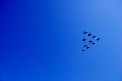 Flugzeuge in der Luft Stockbild