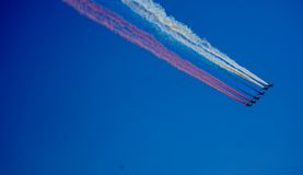 Flugzeuge in der Luft Stockbilder