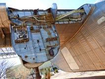 Flugzeuge in der Luft und dem Weltraummuseum Pima Stockbild