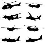 Flugzeuge der spanischen Luftwaffe Stockfotos