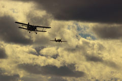 Flugzeuge des Zweiten Weltkrieges Lizenzfreie Stockfotos
