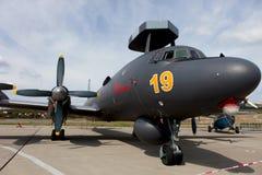 Flugzeuge Ilyushin Il-38 auf einer Ausstellungsfläche Lizenzfreie Stockfotos