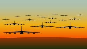 Flugzeuge im Flug Stockfotos