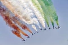 Flugzeuge im Himmel Stockfoto