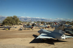 Flugzeuge an Luft und an Weltraummuseum Pima Lizenzfreies Stockbild