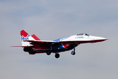 Flugzeuge Mig-29, Swifts Lizenzfreies Stockbild