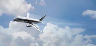 Flugzeuge mit voller Drehzahl lizenzfreies stockbild