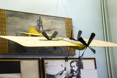 Flugzeuge modellieren im zentralen Haus von Luftfahrt und von Astronautik lizenzfreies stockfoto