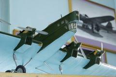Flugzeuge modellieren im zentralen Haus von Luftfahrt und von Astronautik lizenzfreie stockbilder