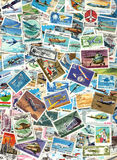 Flugzeuge und Luftfahrt - Hintergrund der Briefmarken Stockbilder