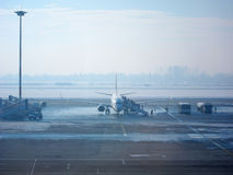 Flugzeugeinstieg Stockfotos